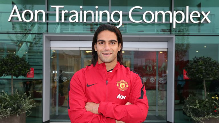 Radamel Falcao: Made a late loan move to Manchester United