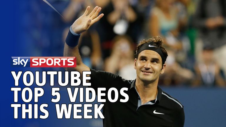 YouTube Top Five: Roger Federer is top of the shots this week