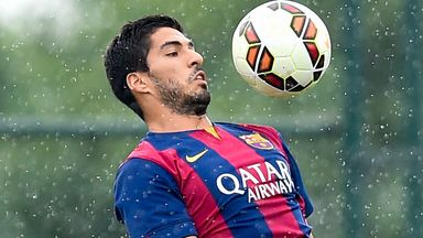 Luis Suarez: is available to Barcelona on Saturday, but will he play?