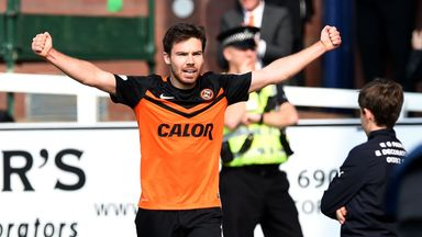 Ryan Dow: Dundee United striker was one of four scorers for the Terrors in a derby day win at Dens Park