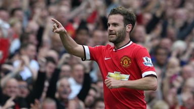 Juan Mata: Celebrates his goal against QPR