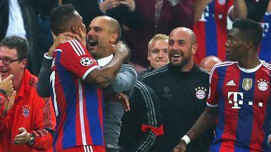 Pep Guardiola: Celebrates Jerome Boateng