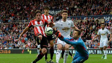 Billy Jones in action against Swansea last season.