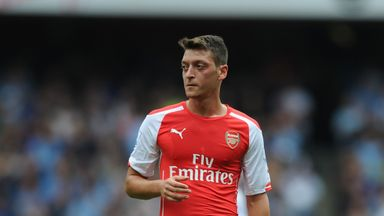 Mesut Ozil: Arsenal playmaker has received the backing of manager Arsene Wenger