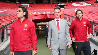 Van Gaal: With new signings Radamel Falcao and Daley Blind.