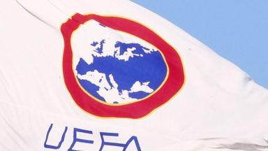 UEFA flag in Geneva
