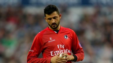 Junaid Khan: Has returned to Old Trafford for the relegation decider against Middlesex