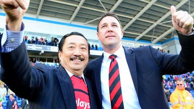 Cardiff owner Vincent Tan with former boss Malky Mackay