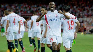 Stephane Mbia: Celebrates his goal