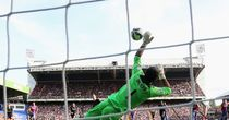Julian Speroni throws up his left hand to beat away Scott Arfield's second-half penalty and earn Crystal Palace a share of the points against Burnley.