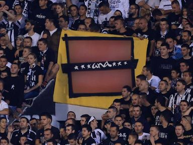 Partizan's banner - with offensive words erased