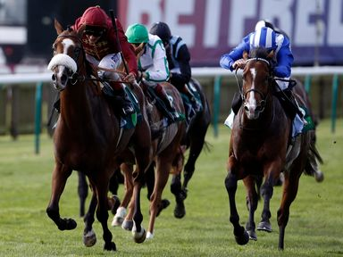 Elm Park (left) ridden by Andrea Atzeni wins the Juddmonte Royal Lodge Stakes during day three of The Cambridgeshire Meeting at Newmarket Racecourse, Newma