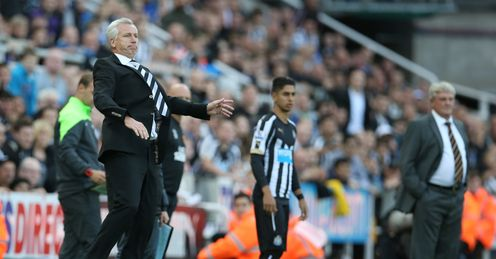 Alan Pardew: Newcastle boss on the touchline during the draw with Hull City