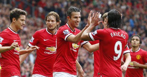 Robin van Persie: Celebrates goal against West Ham at weekend