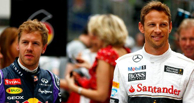 Sebastian Vettel and Jenson Button