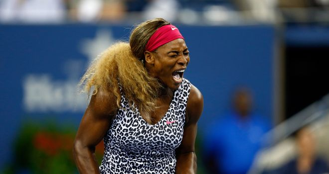 Serena Williams saw off Flavia Pennetta in straight sets
