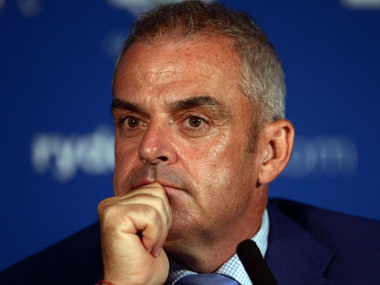 Paul McGinley names his wild cards during a press conference at Wentworth