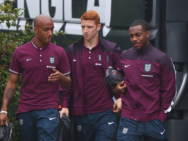 Fabian Delph, Jack Colback and Danny Rose arrive for England training