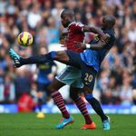 Eliaquim Mangala: Tussles with Carlton Cole at Upton Park