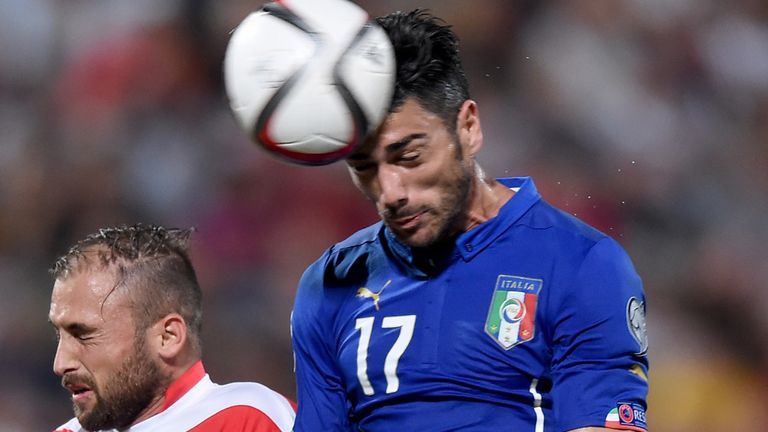 Graziano Pelle started up front for Italy against Spain