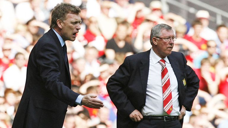 David Moyes (left) eventually took the job after Ferguson's retirement