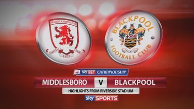 Middlesbrough 1-1 Blackpool