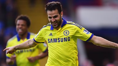 Cesc Fabregas: Enjoying being back in his favoured position