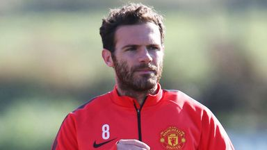 Juan Mata may get a chance to impress from the start at Old Trafford on Sunday