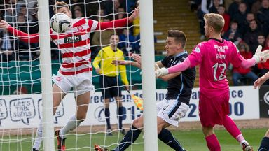 Scott Bain: Relieved to see ball fly wide of post as Hamilton go close