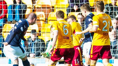 Gary Harkins: Gives Dundee a two-goal advantage over Motherwell
