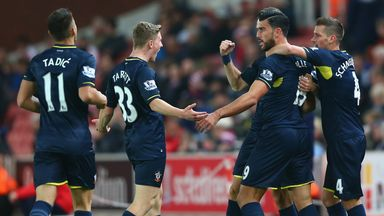 Graziano Pelle: Celebrates the opener for Southampton