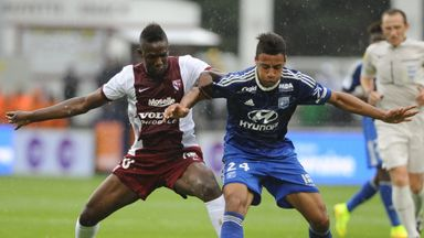Madibo Maiga (left) has yet to score for Metz after joining on loan from West Ham