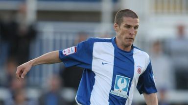 Paul Murray pictured playing for Hartlepool in 2010