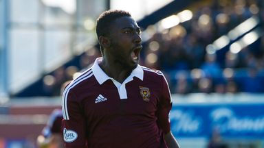Prince Buaben: Late fitness test for Hearts man