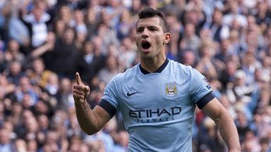 Sergio Aguero: The Manchester City striker has scored nine goals in eight Premier League games.