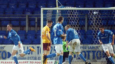 Michael O'Halloran celebrates after scoring St Johnstone's equaliser.