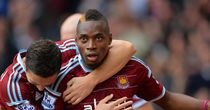 Diafra Sakho: Celebrates netting once against for the Hammers