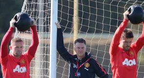 Gallery: Van Gaal prepares Manchester United for Everton clash