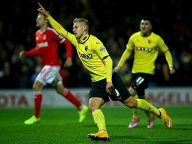 Matej Vydra: On target for Watford