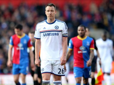 A dejected John Terry of Chelsea walks off after losing to Crystal Palace last season