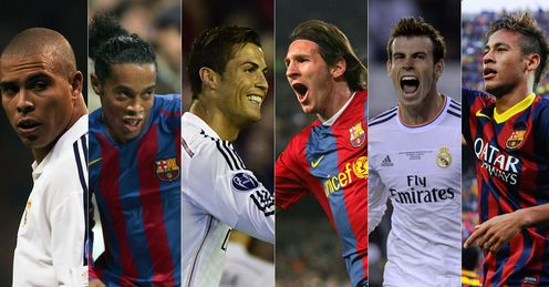 Ronaldo (both of them), Ronaldinho, Messi, Bale and Neymar. The past, present and future of El Clasicos. We take a look at a fiery, action-packed history.