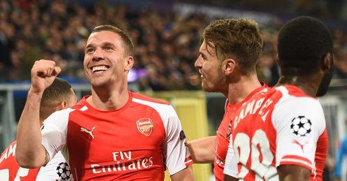 Lukas Podolski: Scored 31 goals in 82 appearances for the Gunners