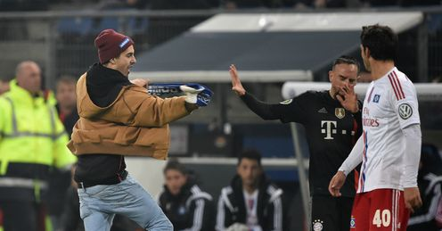 Franck Ribery: Met with a pitch invader