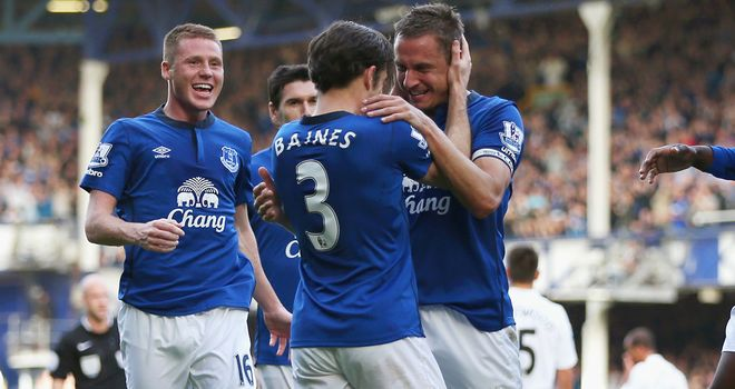 Phil Jagielka: Celebrates his opener