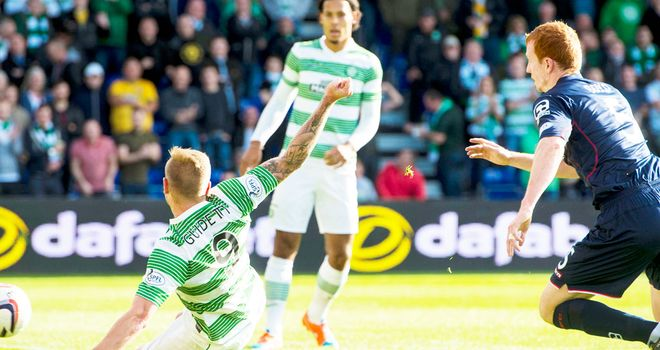John Guidetti gives Celtic an early lead in their rout of Ross County