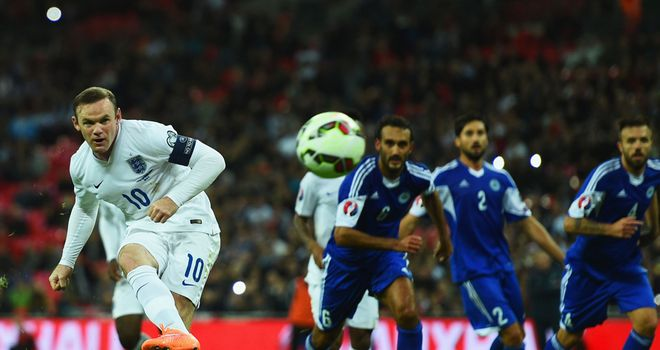 Wayne Rooney scored England's second goal from the penalty spot