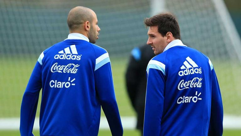 Mascherano has played alongside Lionel Messi for Argentina since 2005