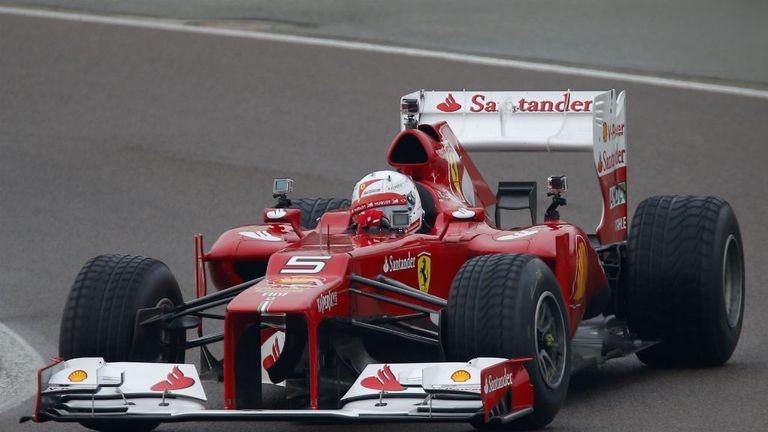 Sebastian Vettel at the wheel of the Ferrari F2012