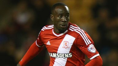 Albert Adomah: Saw an effort saved by Christian Walton