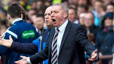Manager Ally McCoist criticised Rangers' Steven Smith for getting sent off against Hearts.